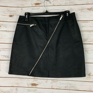 Kendall Kylie NWOT faux leather mini skirt M black